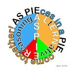 Original slogan, logo, idea, and phrase by Andrew Lerner. AS PIEces in a PIE, come together. An ASpie has Asperger syndrome, part of autisim. AS PIEces in a PIE, let us all come together.  Aspie pie. Purchase at http://www.cafepress.com/ASpiece