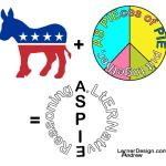 Original idea and design by A. Lerner, who is part of ALtERNative Reasoning. A Donkey is an ass. Add a pie. An ASpie tries to fit in, using clues as part of a puzzle. An Andrew Lerner Aspie Graphic Design