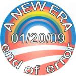 I modified the Barack Obama campaign symbol to celebrate his inauguration date, and the end of the previous administration. Use of a Homonym. An Andrew Lerner Graphic Design
