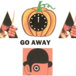 "Original concept by Andrew Lerner by using the logos from ""A Clockwork Orange"". Pumpkins are orange and symbolize Halloween and the movie. The clock represents DST and the movie. The movie is also appropriate for the holiday in many ways."