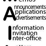 Original acronym and design for both MAIL and my full name. MAIL = Messages And Information Letters or Andrew I. Lerner.